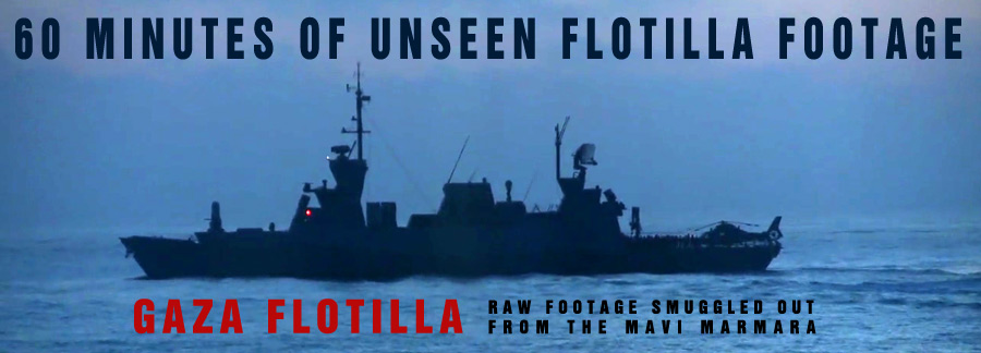 Slingshots vs Helicopters - GAZA FLOTILLA Raw footage from the Mavi Marmara