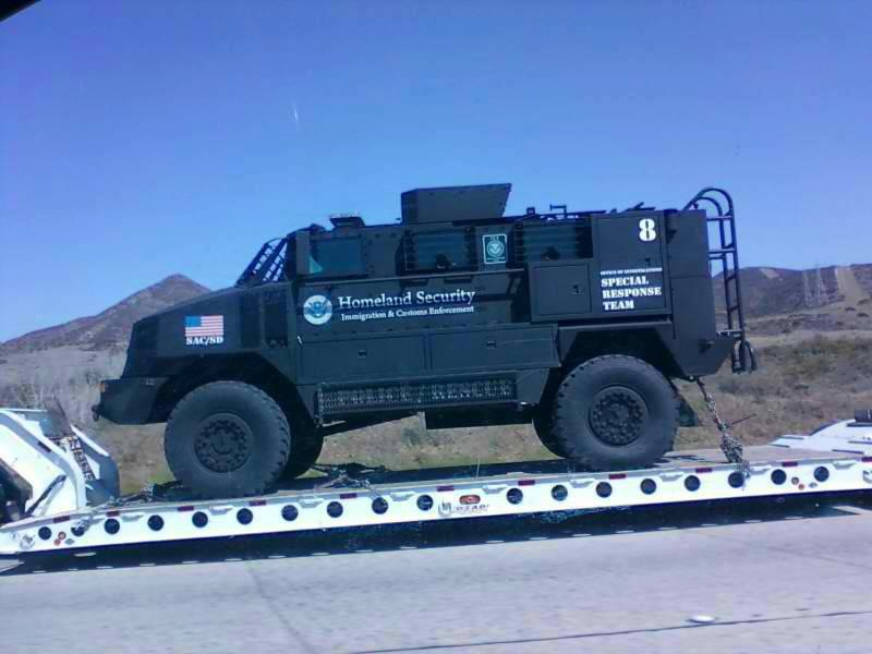 Homeland Security SRT riot truck